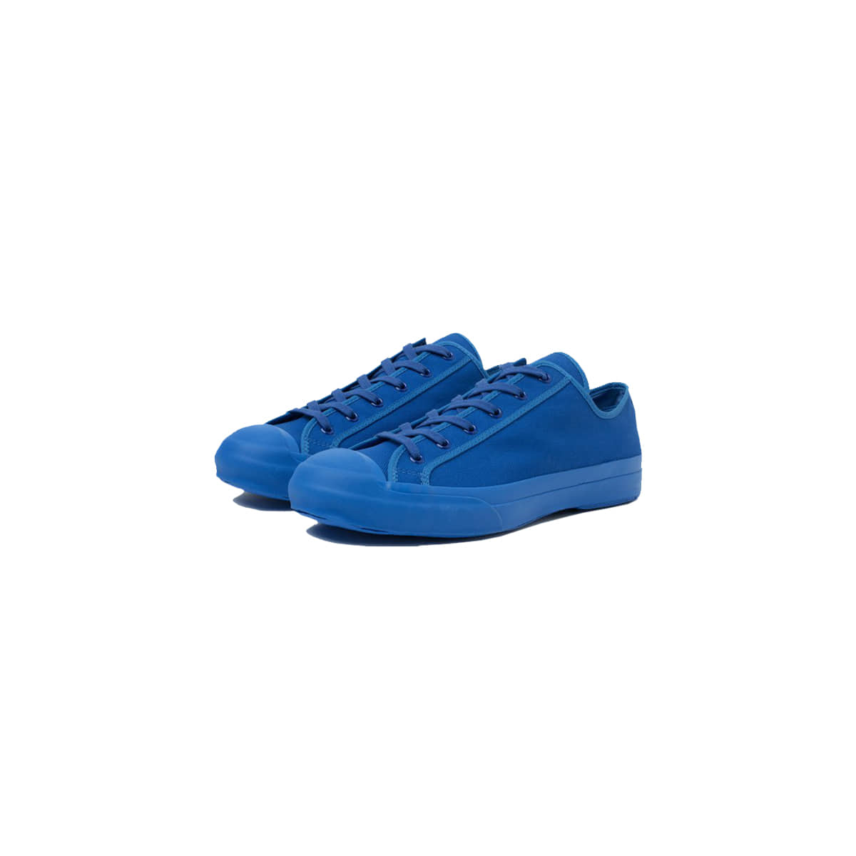 [STUDIO NICHOLSON] MERINO VULCANISED SOLE CANVAS SHOE 'KLEIN BLUE'