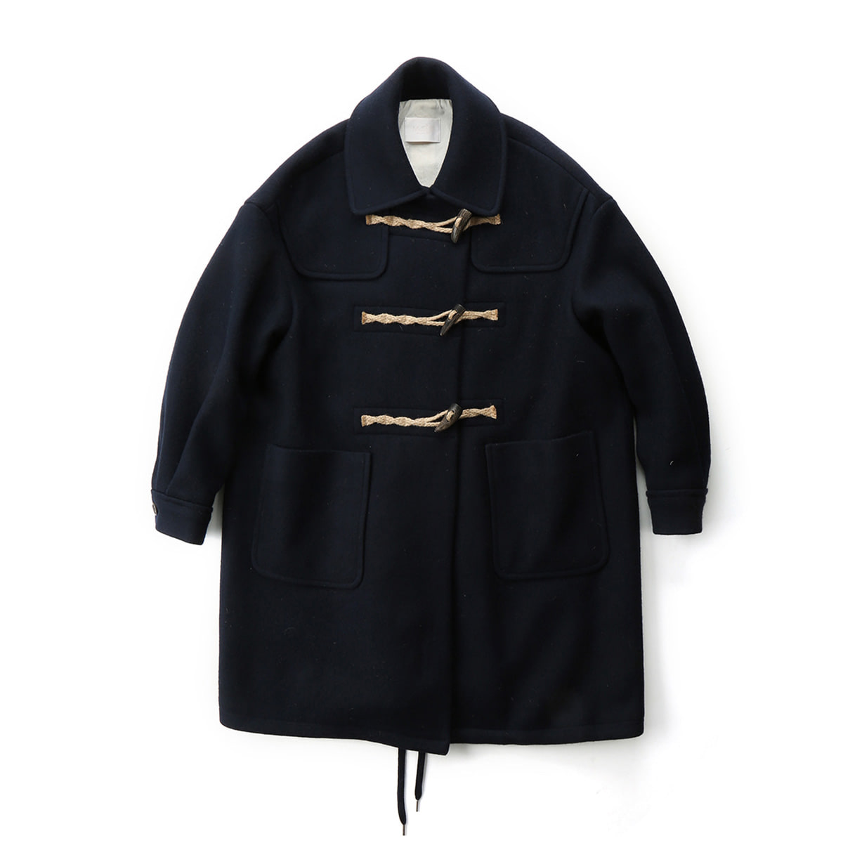 [MUSED] LAVE DE DUFFLE COAT 'NAVY SOLID'