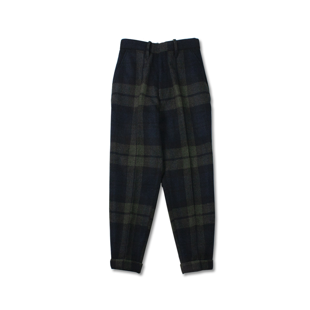 [HAVERSACK] BIG TARTAN CHECK PEG TOP PANTS