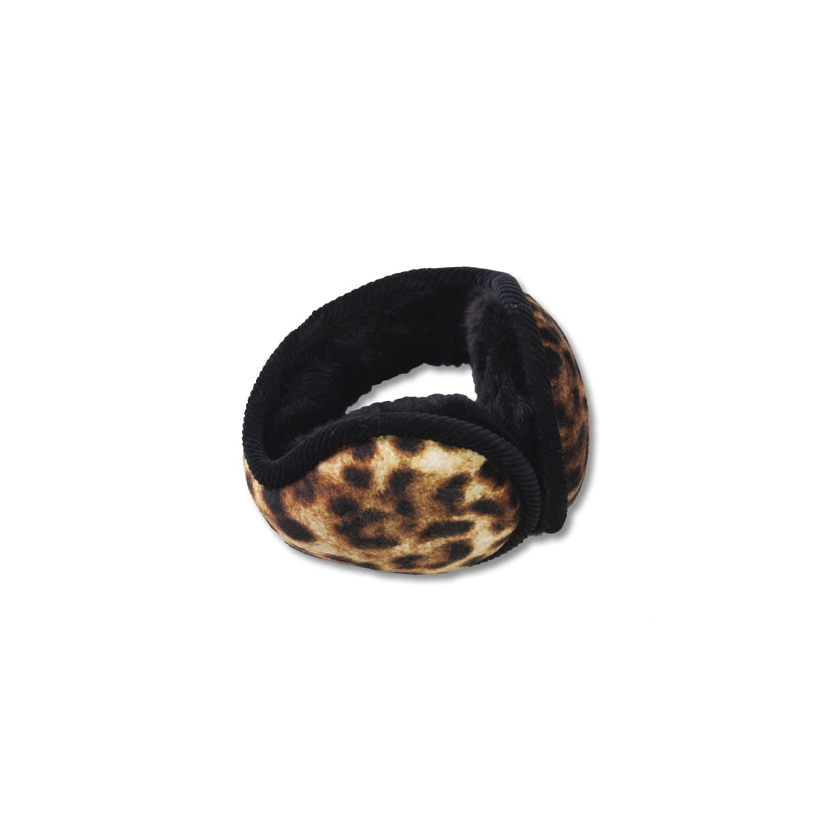 [INFIELDER DESIGN] LEOPARD VELOUR EARMUFF 'YELLOW'