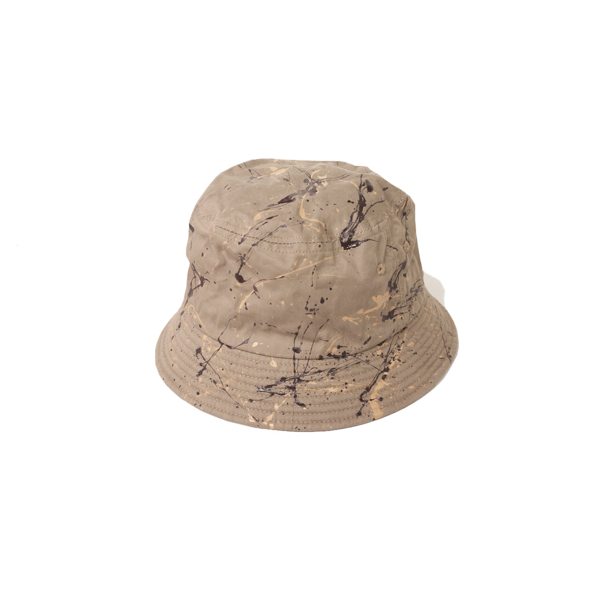 [DECHO] ACTION PAINTING BUCKET HAT 'BEIGE/BROWN'