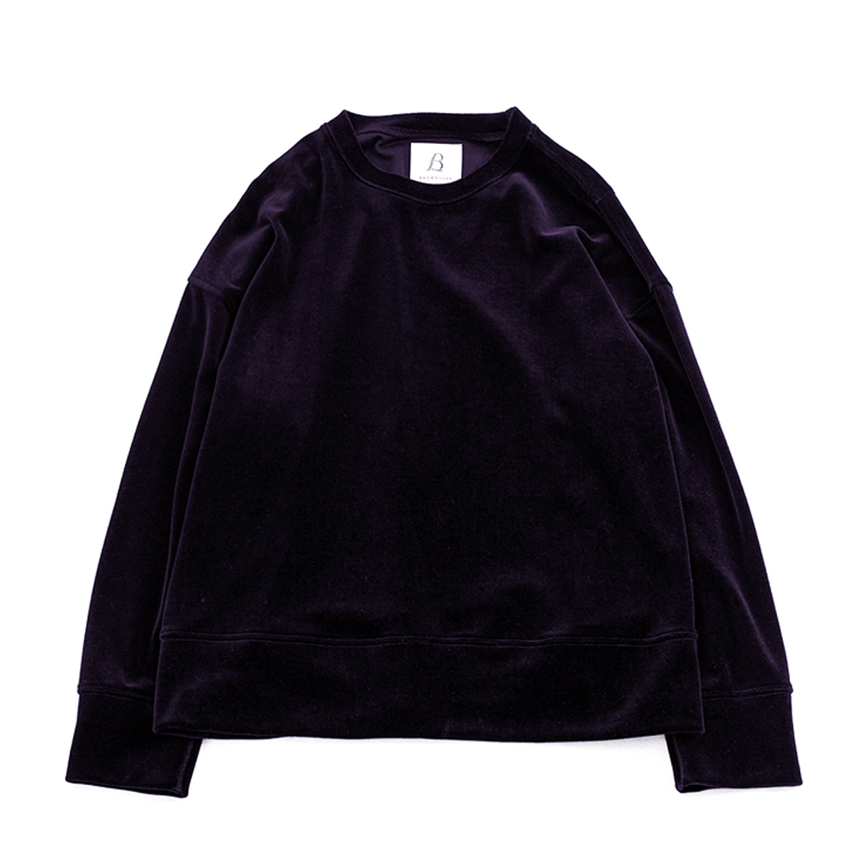 [BROWNYARD] WIDE VELOUR PULLOVER 'DARK PURPLE'