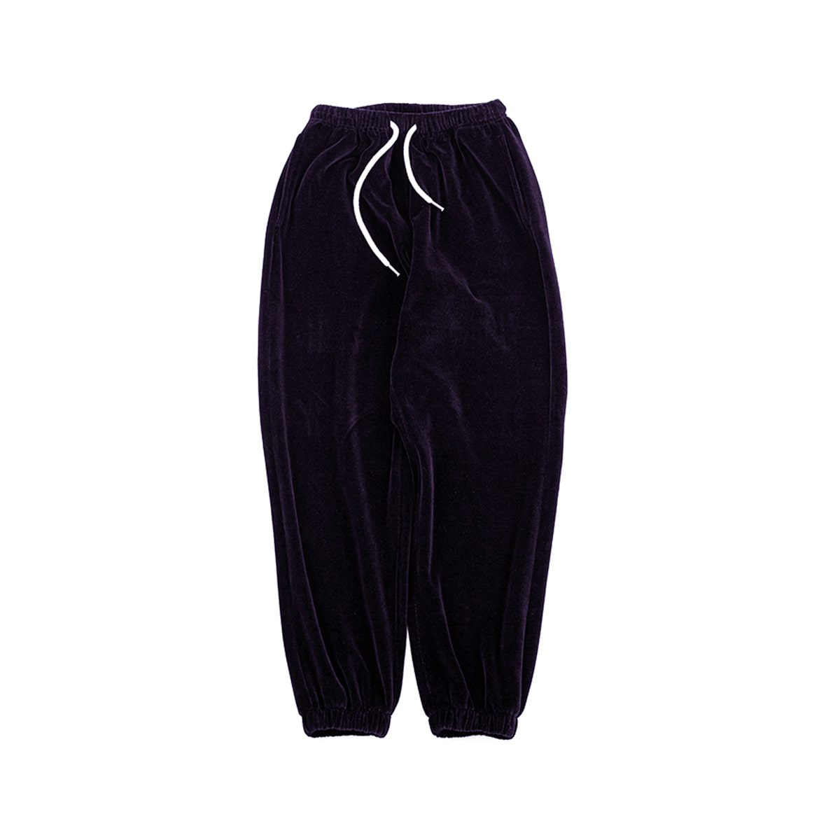 [BROWNYARD] VELOUR PANTS 'DARK PURPLE'