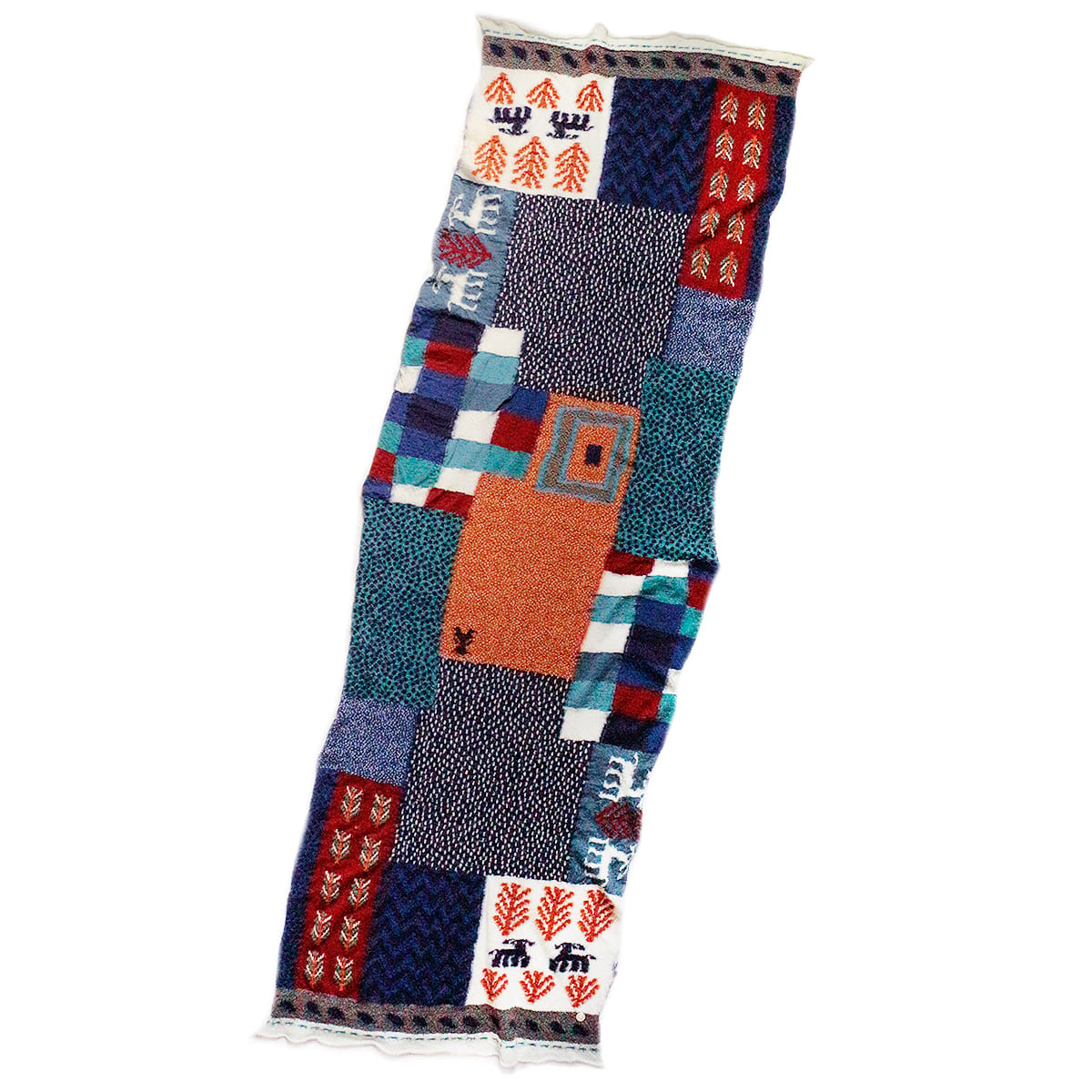 [KAPITAL] COMPRESSED WOOL SCARF VILLAGE GABBEH 'TAQ'