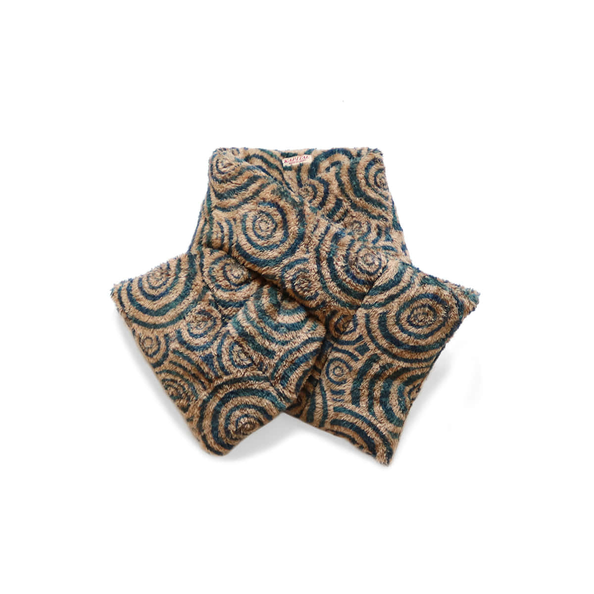 [KAPITAL] MAZE FLEECE KESA SCARF (WIDE) 'BE'