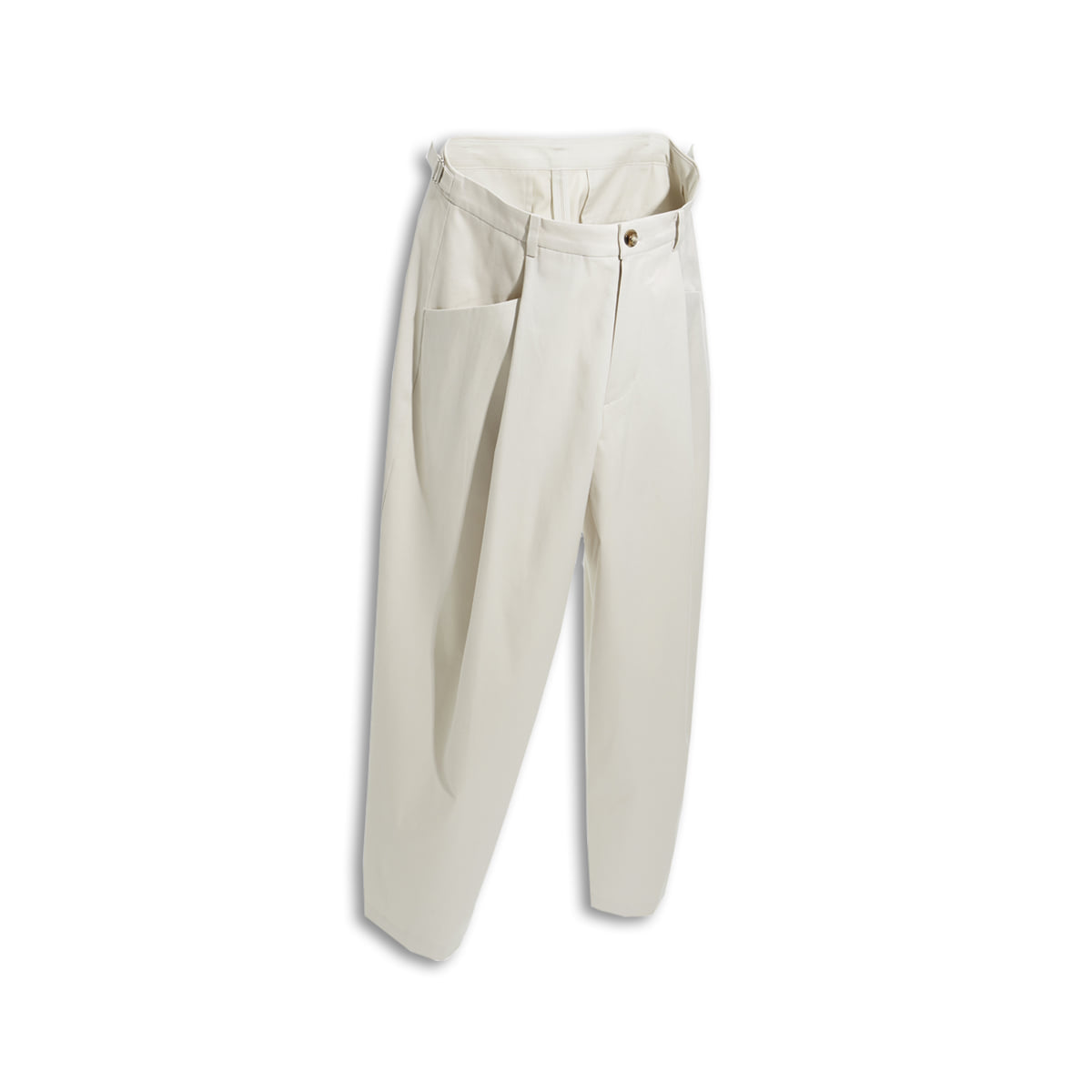 [YOUTH] STRUCTURED WIDE PANTS 'STONE'