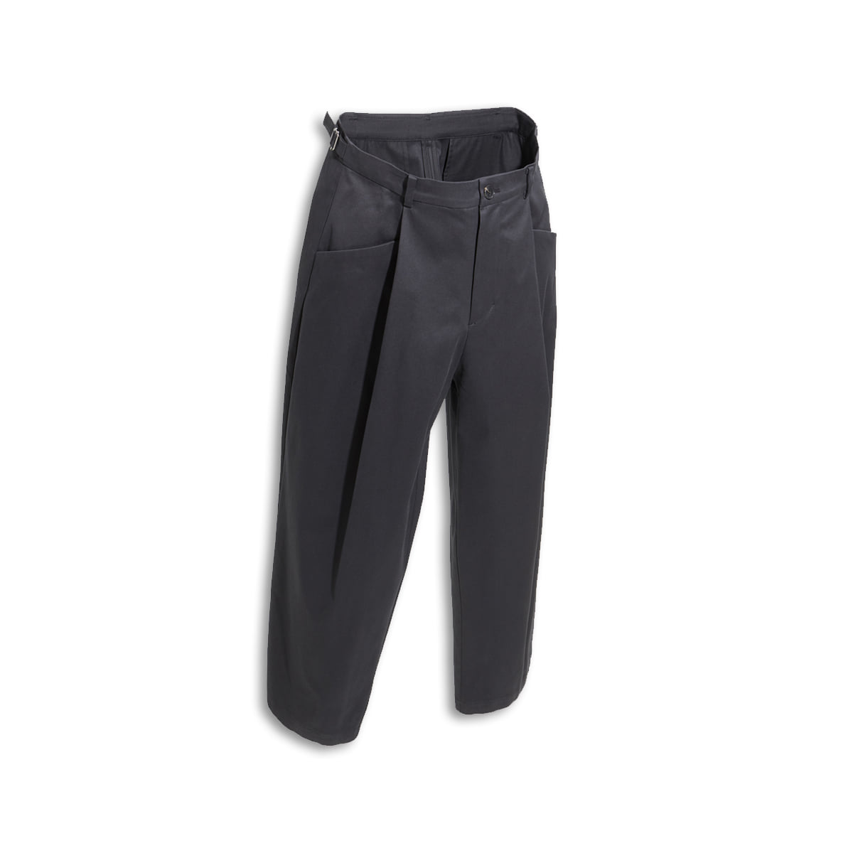 [YOUTH] STRUCTURED WIDE PANTS 'BLACK'