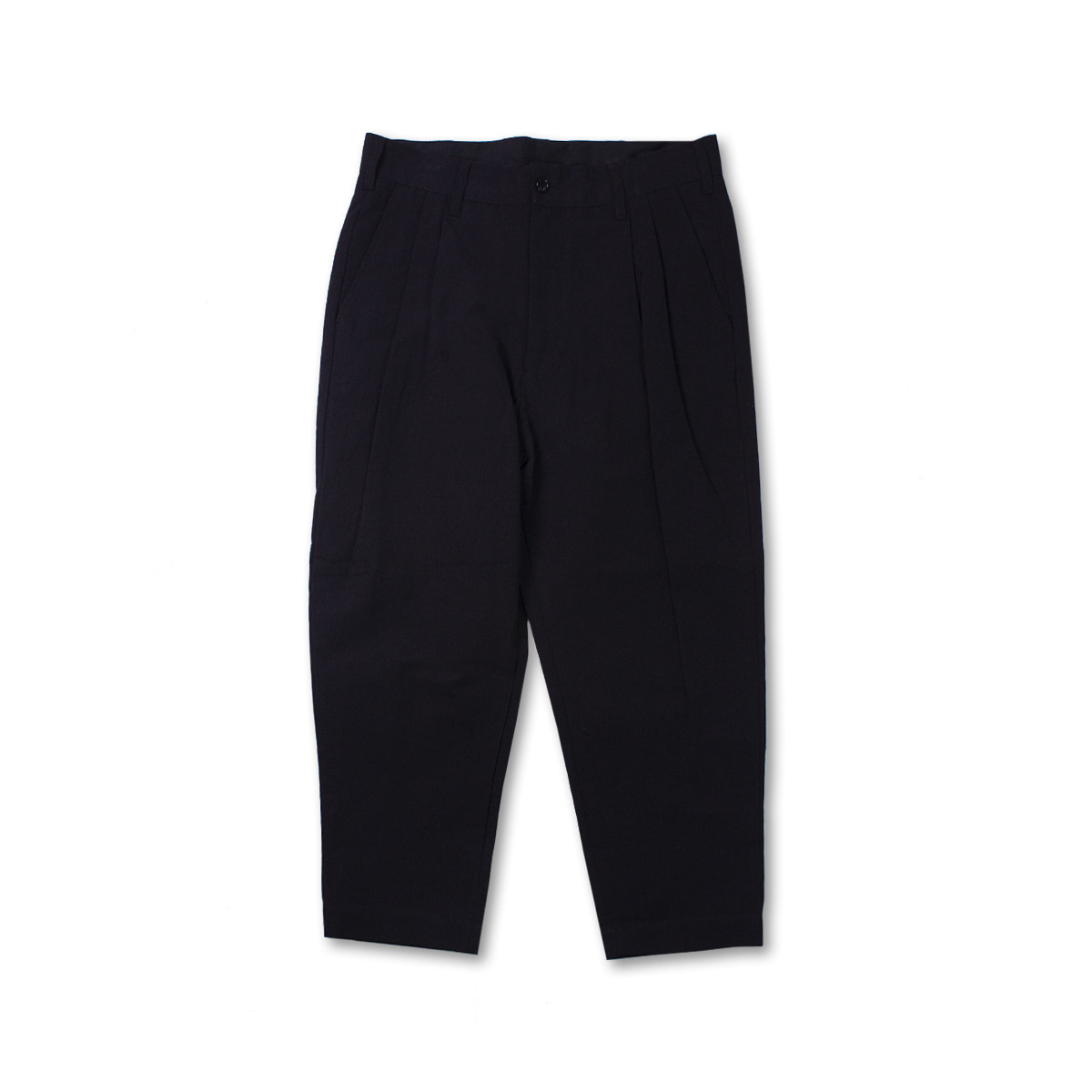 [SAGE DE CRET] TWO TACK PEGTOP PANTS 'BLACK'