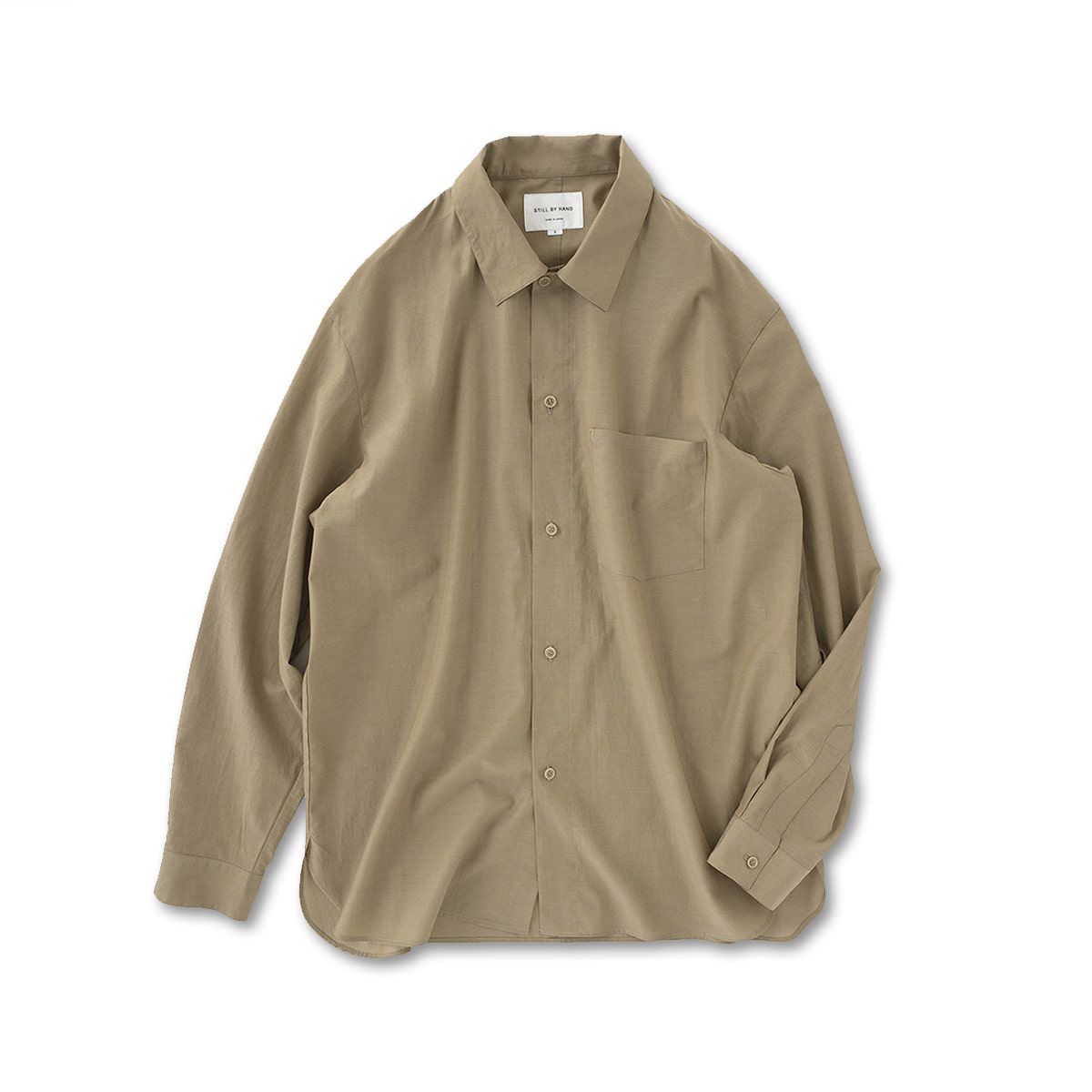 [STILL BY HAND] SH02201OS - RELAXED OVER SHIRT 'BEIGE'