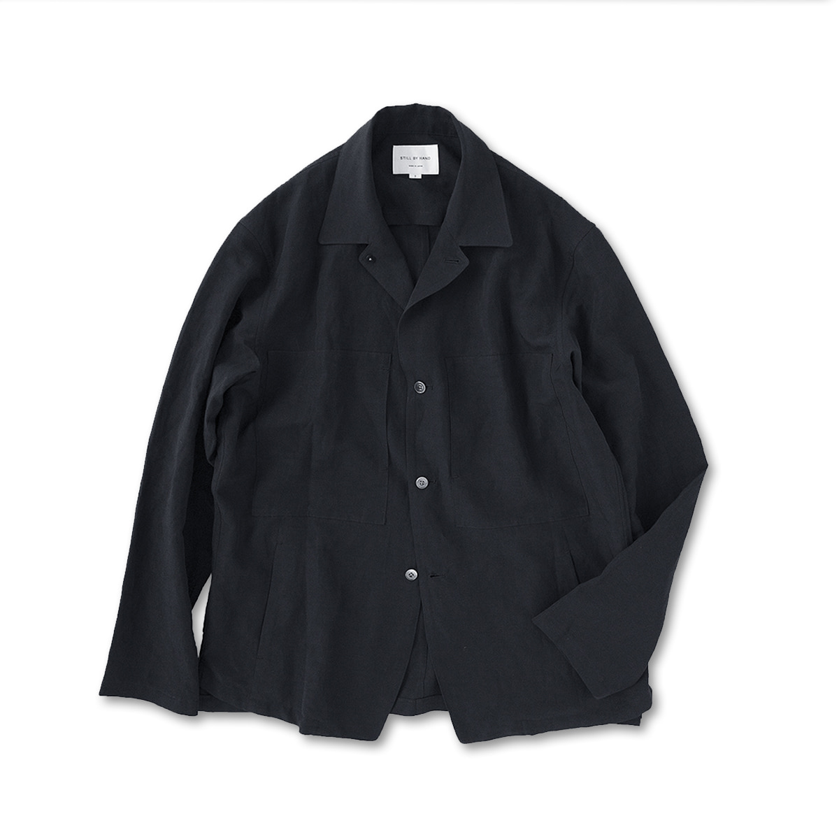 [STILL BY HAND] JK03201OS - LARGE POCKET SHIRT JACKET 'BLACK'