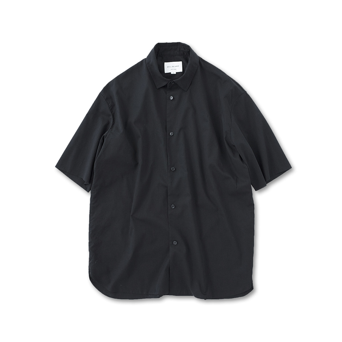 [STILL BY HAND] SH08201OS - LAYERED SHIRT 'BLACK'