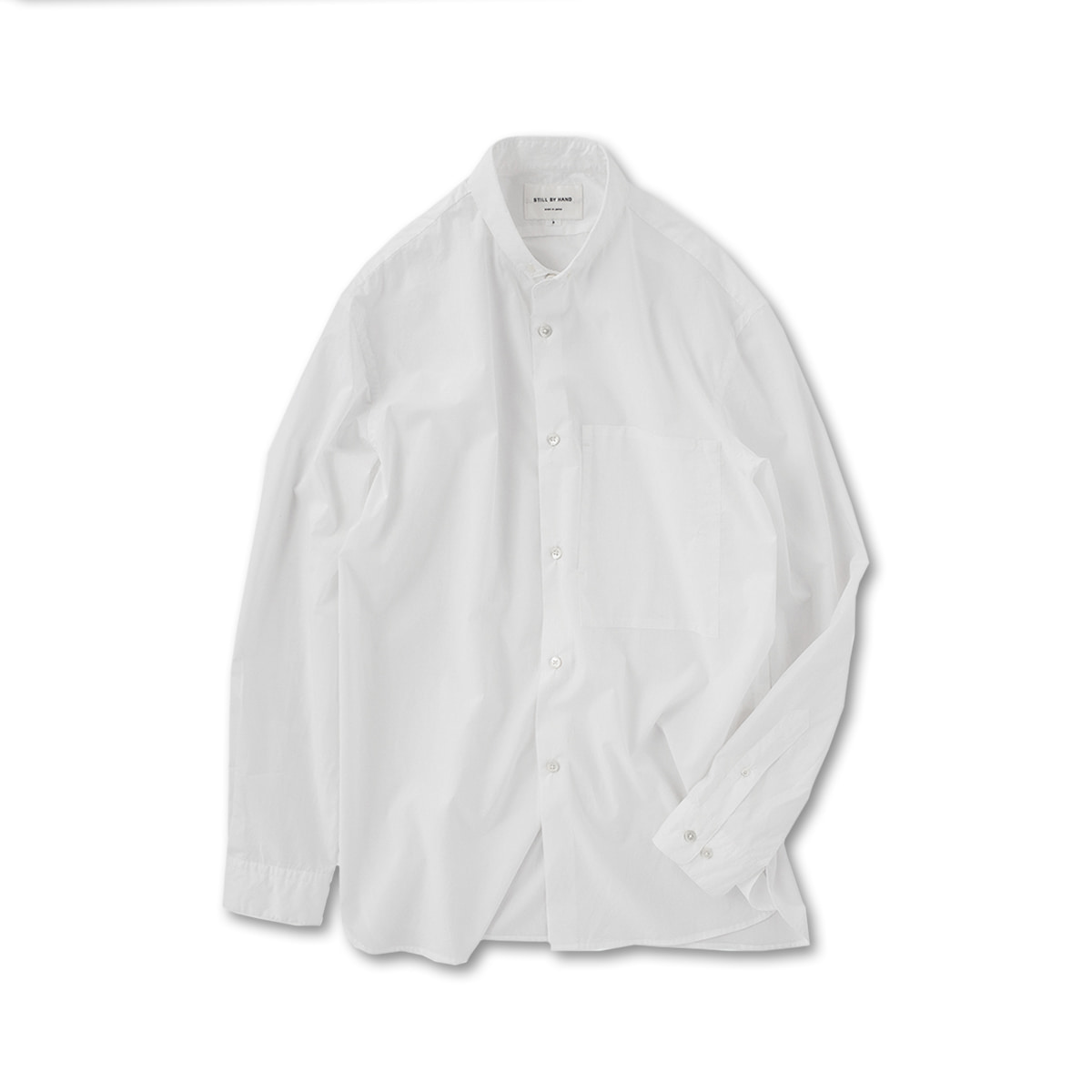 [STILL BY HAND] SH03201OS - WING COLLAR SHIRT 'WHITE'