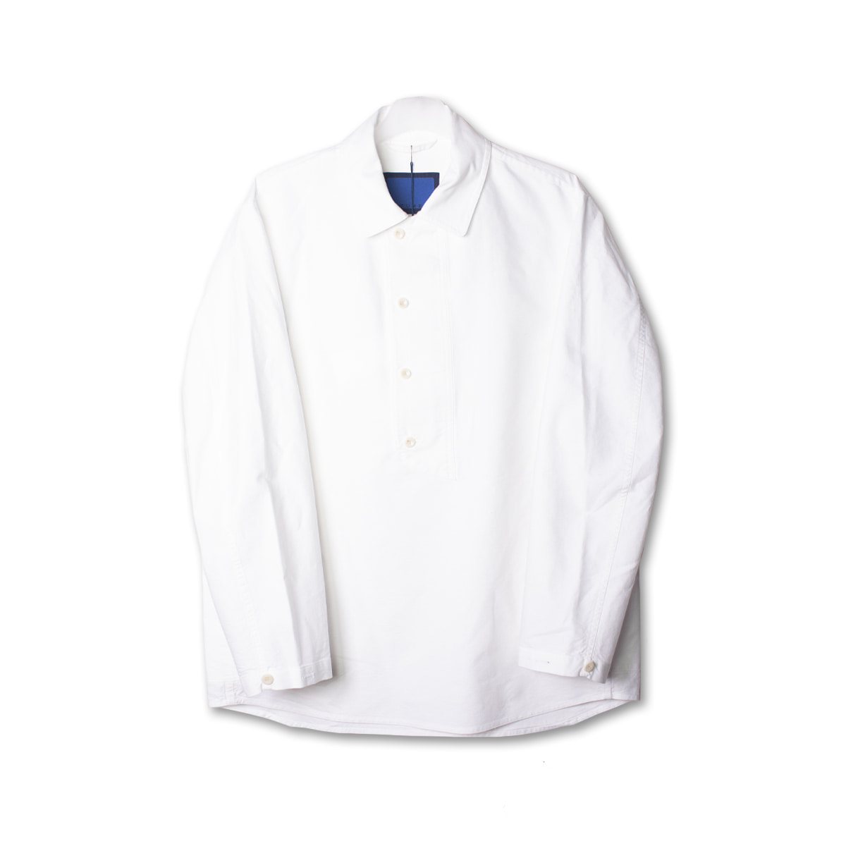 [DOCUMENT] COTTON PULL OVER SHIRT 'WHITE'