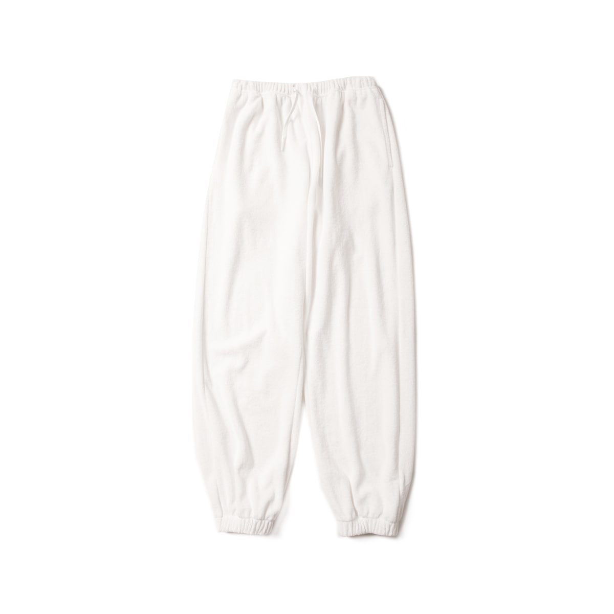 [BROWNYARD] TERRY SWEAT PANTS 'WHITE'