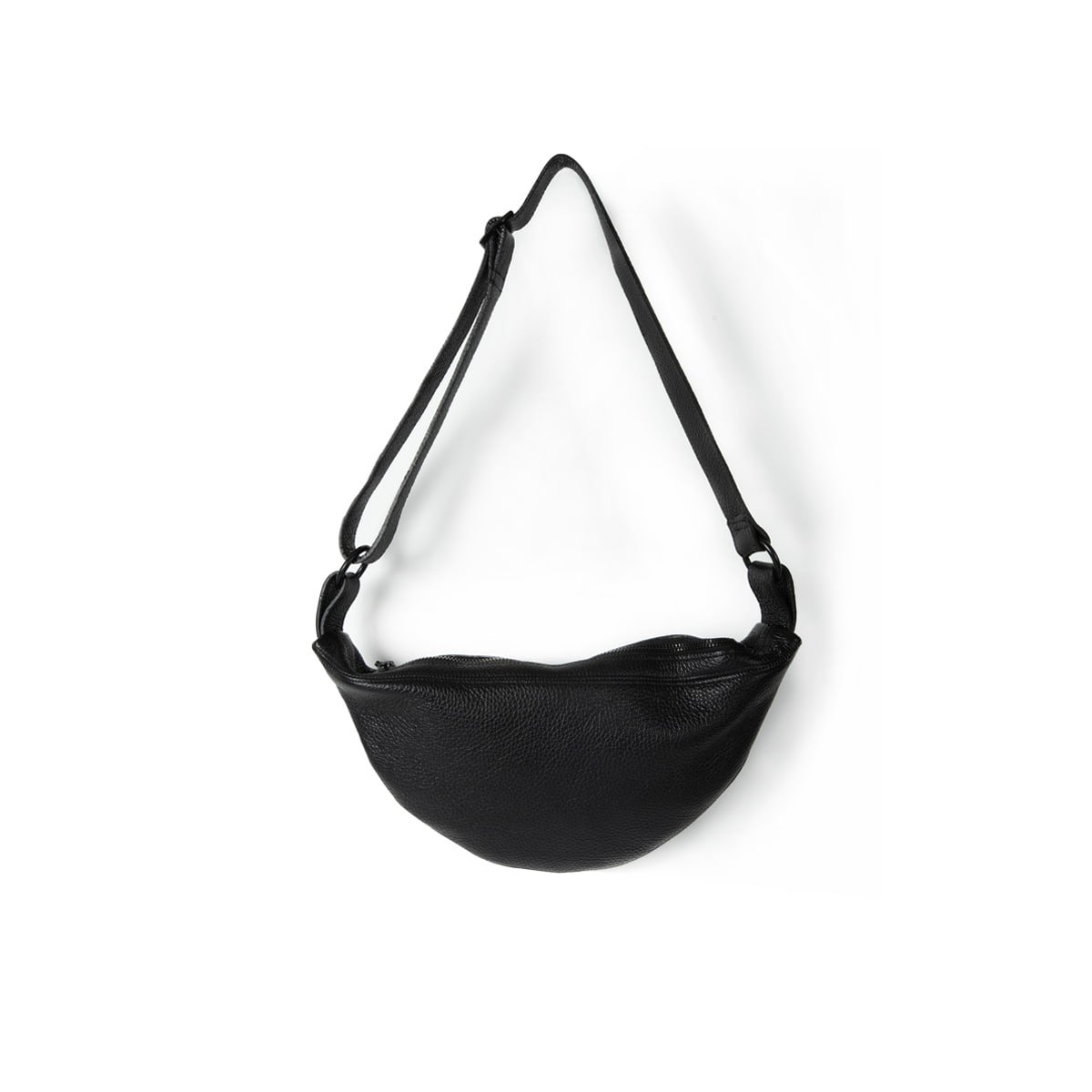 [BROWNYARD] LEATHER SLING BAG 'BLACK'