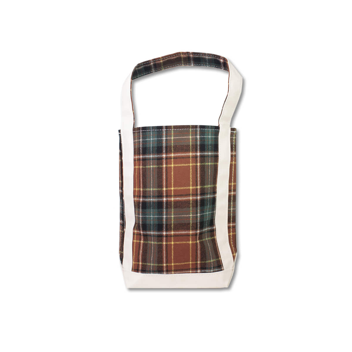 [TEMBEA] BAGUETTE TOTE SMALL 'BROWN CHECK'