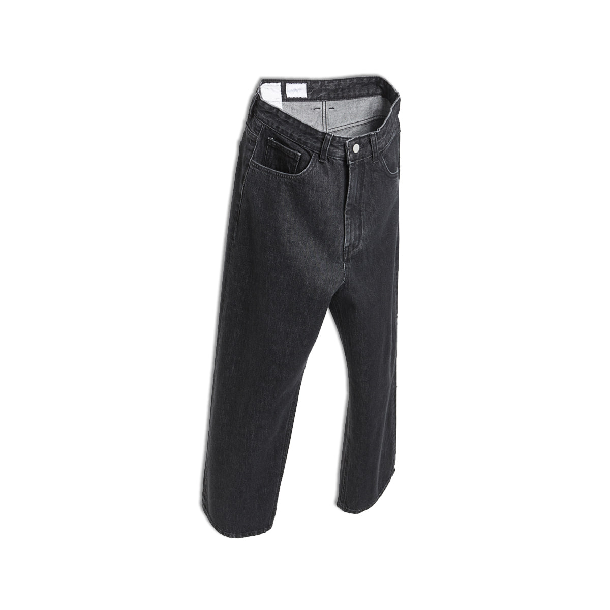 [YOUTH] WIDE DENIM PANTS 'WASHED BLACK'