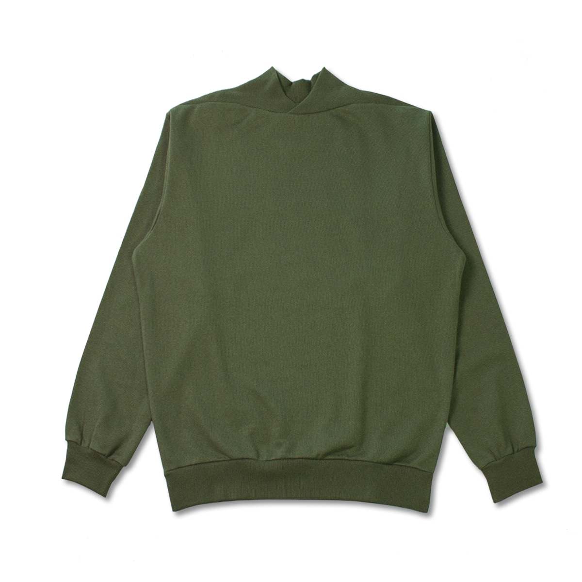 [DE BONNE FACTURE] SUPIMA COTTON FLEECE SWEATSHIRT 'KHAKI'