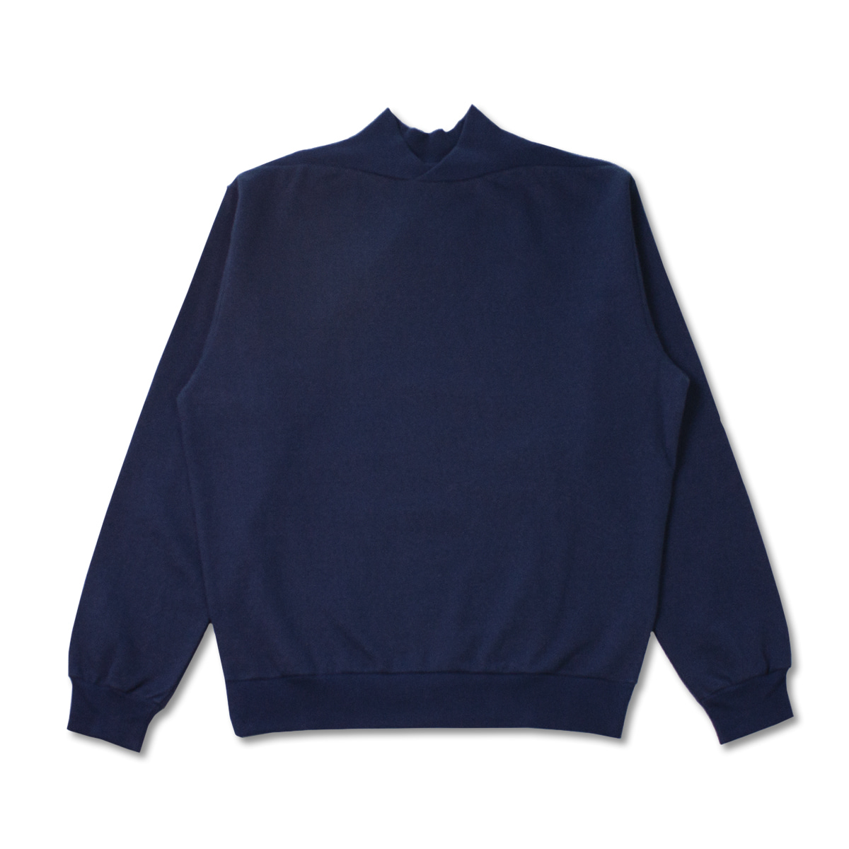 [DE BONNE FACTURE] SUPIMA COTTON FLEECE SWEATSHIRT 'NAVY'