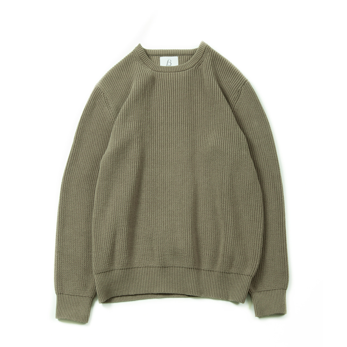 [BROWNYARD] FISHERMAN SWEATER 'OLIVE'