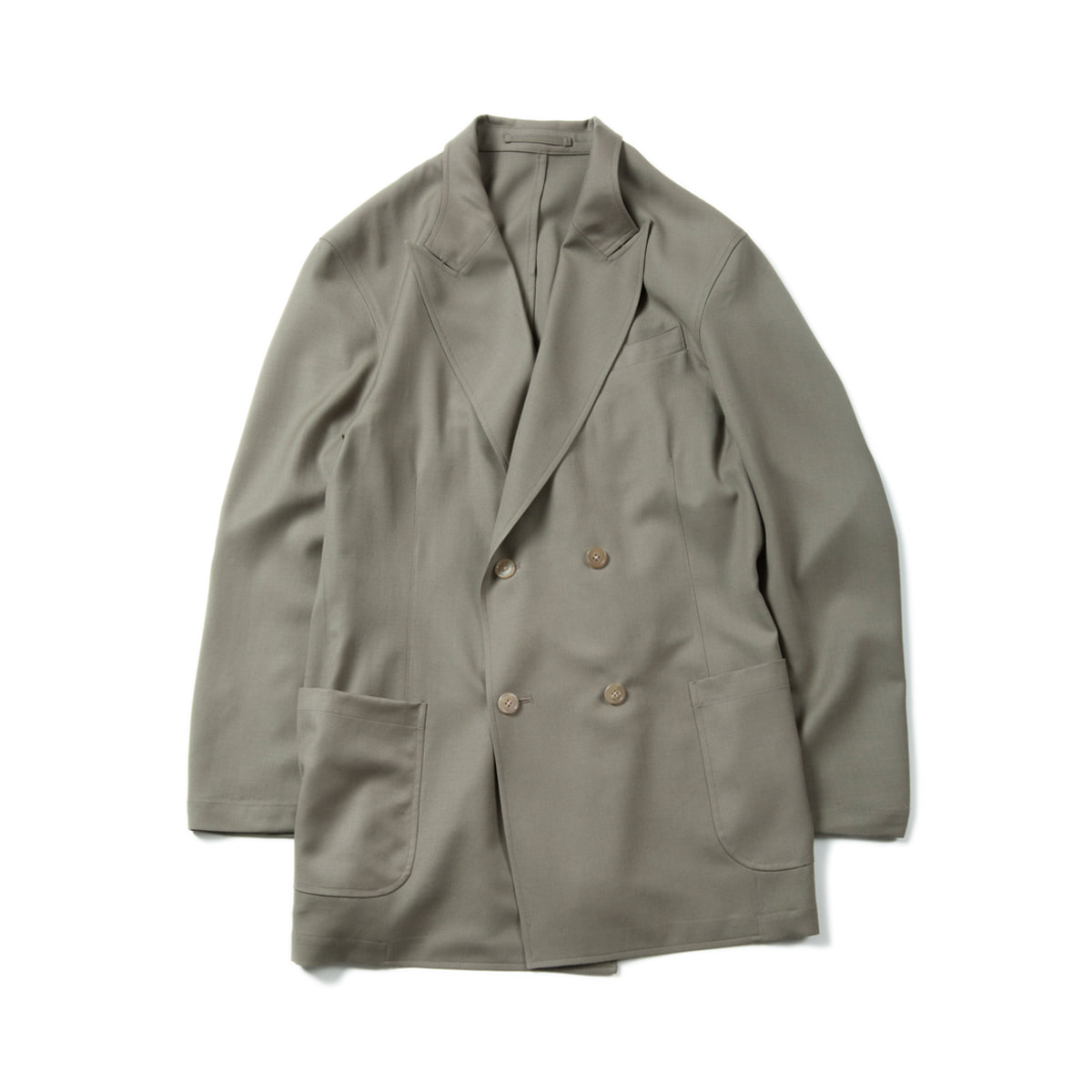 [BROWNYARD] UTILITY DOUBLE BREASTED JACKET 'LIGHT OLIVE'