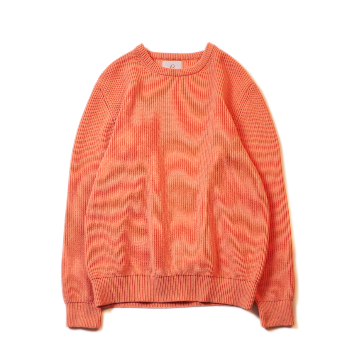[BROWNYARD] FISHERMAN SWEATER 'CORAL'