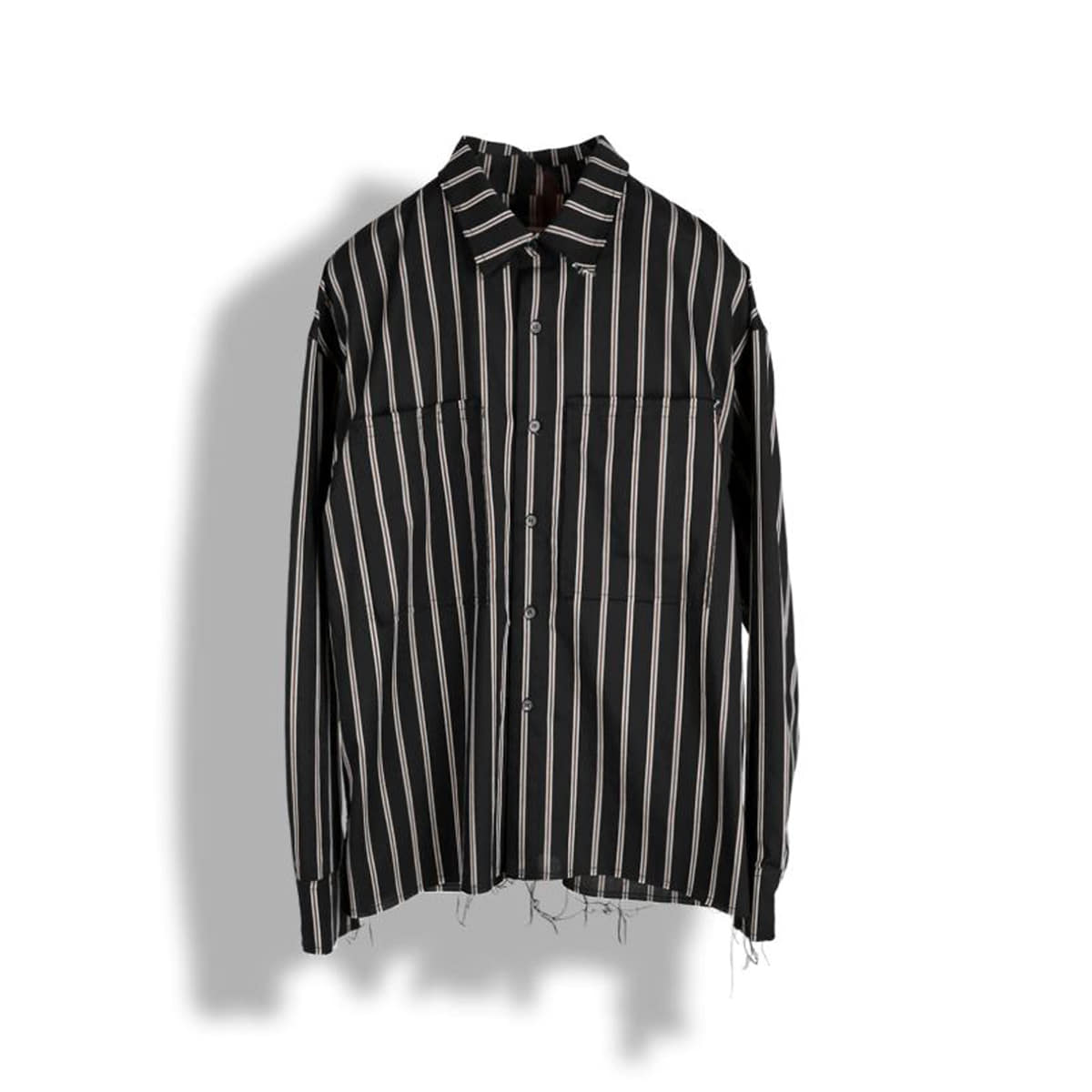 [BIRTHDAYSUIT] 20SS UNFINISHED SHIRT 'BLACK'