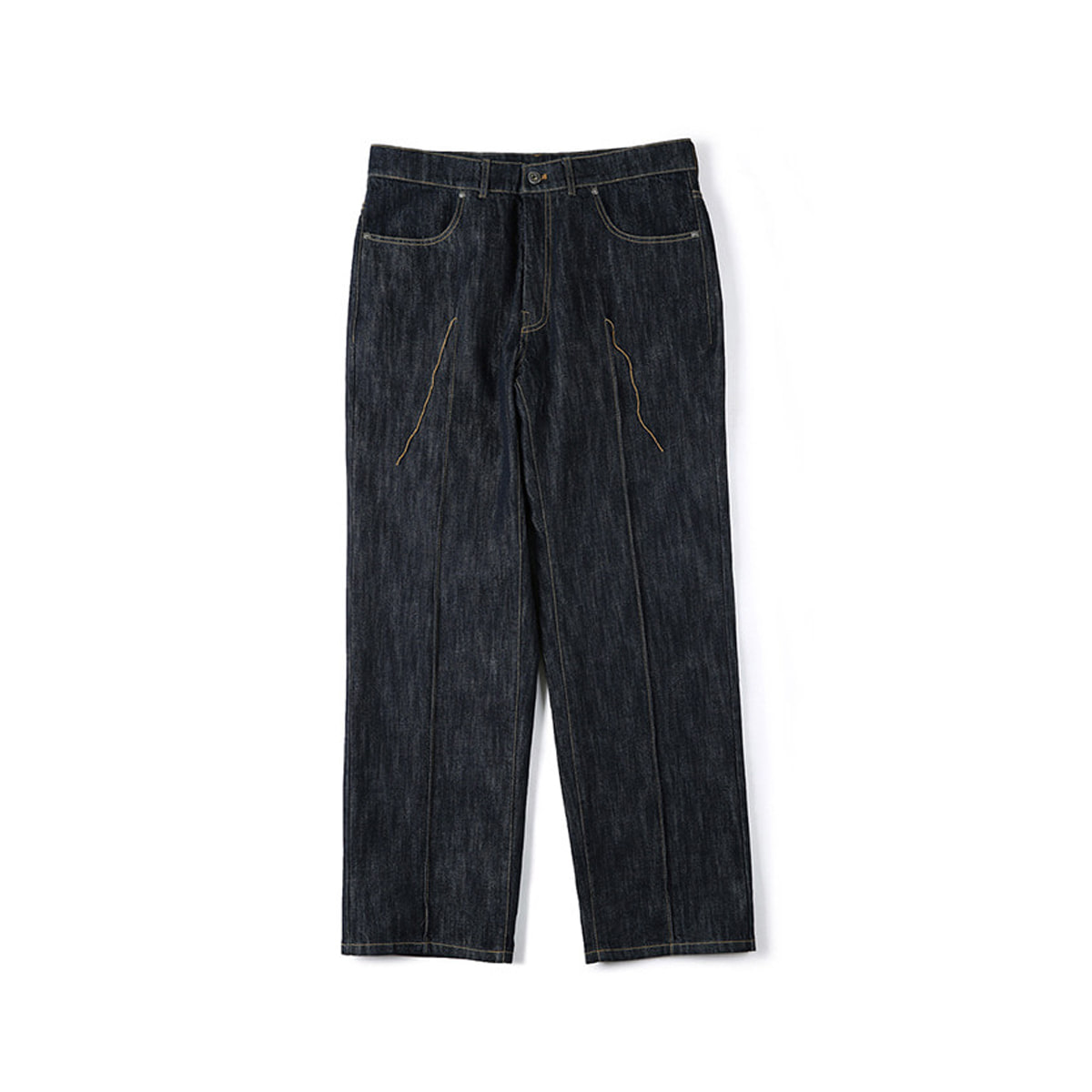 [SHIRTER] SRIRCHED CREASE DENIM PANTS 'INDIGO'
