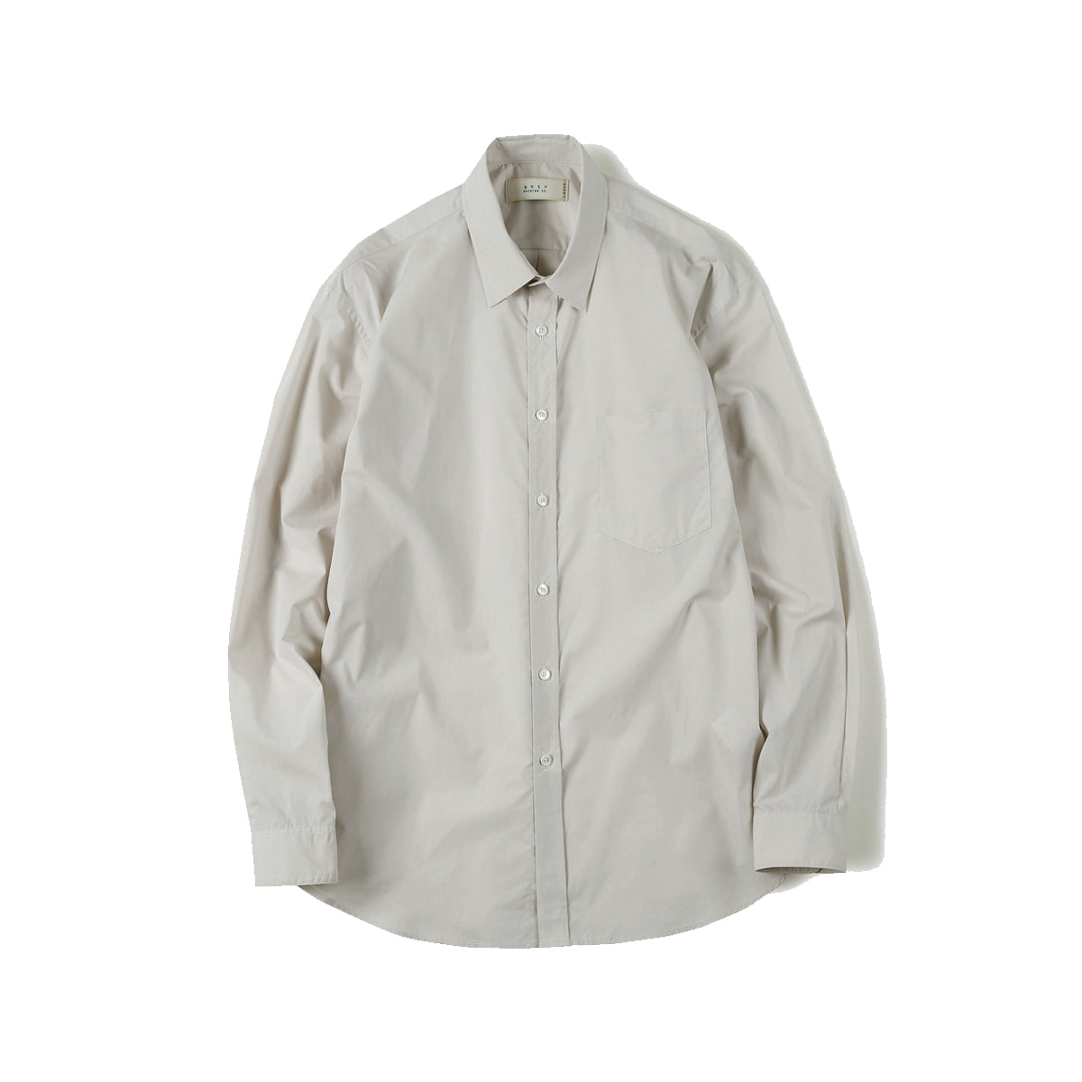 [SHIRTER] HIGH DENSITY STANDARD SHIRT 'LIGHT BEIGE'