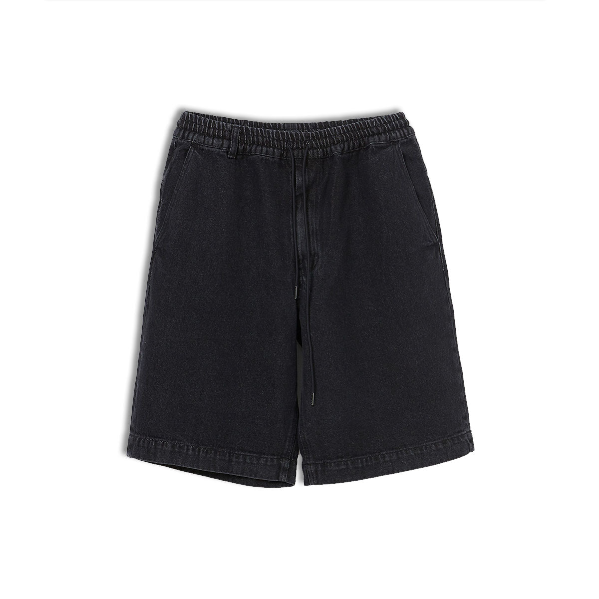 [ENIGMA] WIDE DENIM SHORTS 'WASHED BLACK'