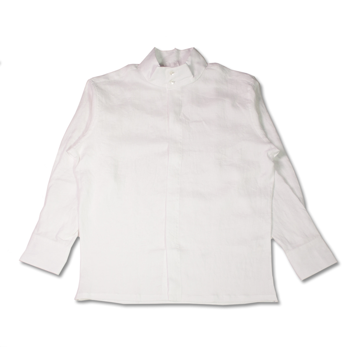 [HAVERSACK]  LINEN POPLIN COLLAR SHIRT 'WHITE'