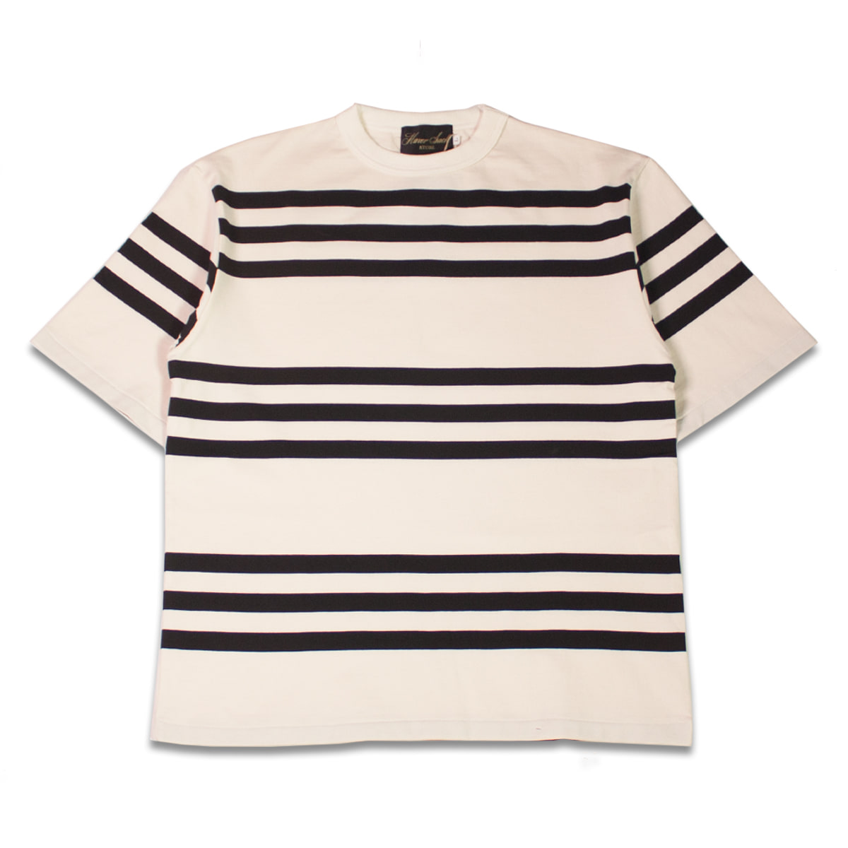 [HAVERSACK] SHORT SLEEVE STRIPE TEE 'ECRU'