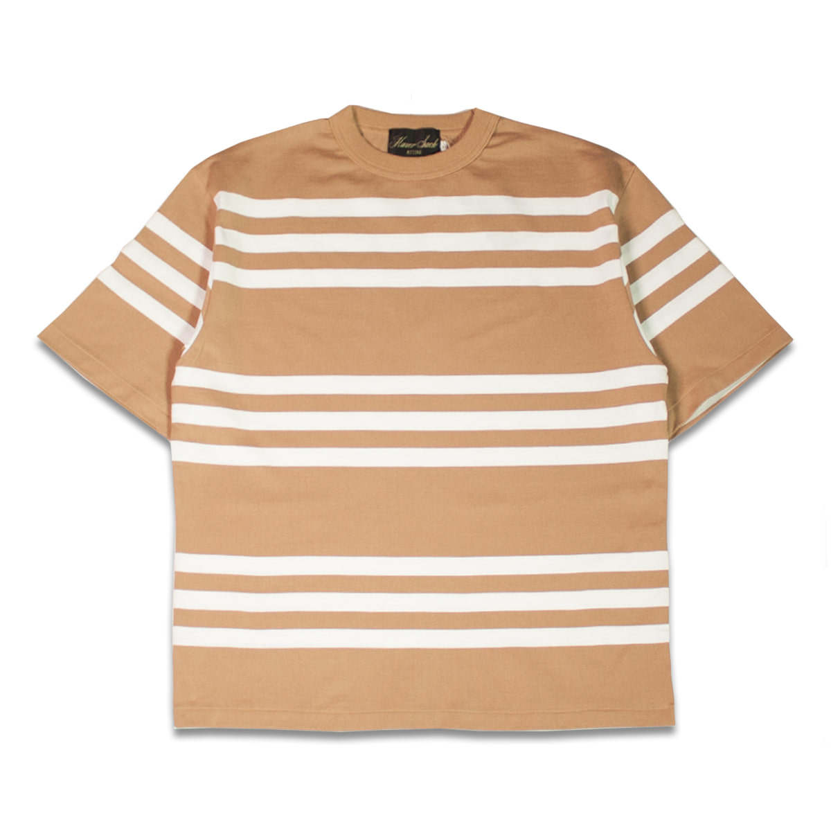 [HAVERSACK] SHORT SLEEVE STRIPE TEE 'CAMEL'