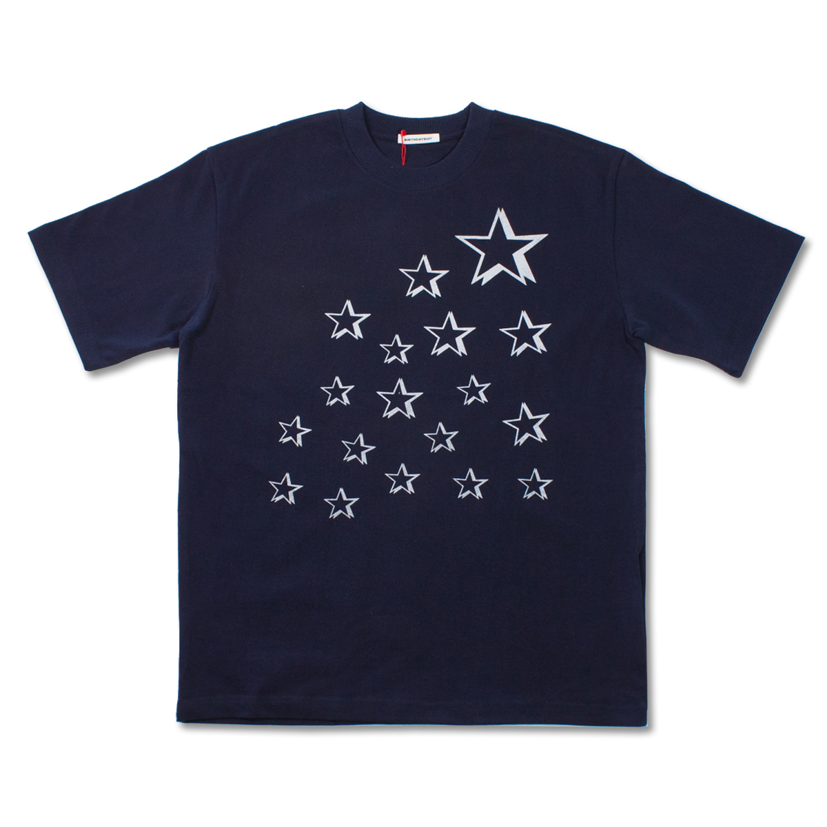 [BIRTHDAYSUIT] STARS T-SHIRT 'NAVY'