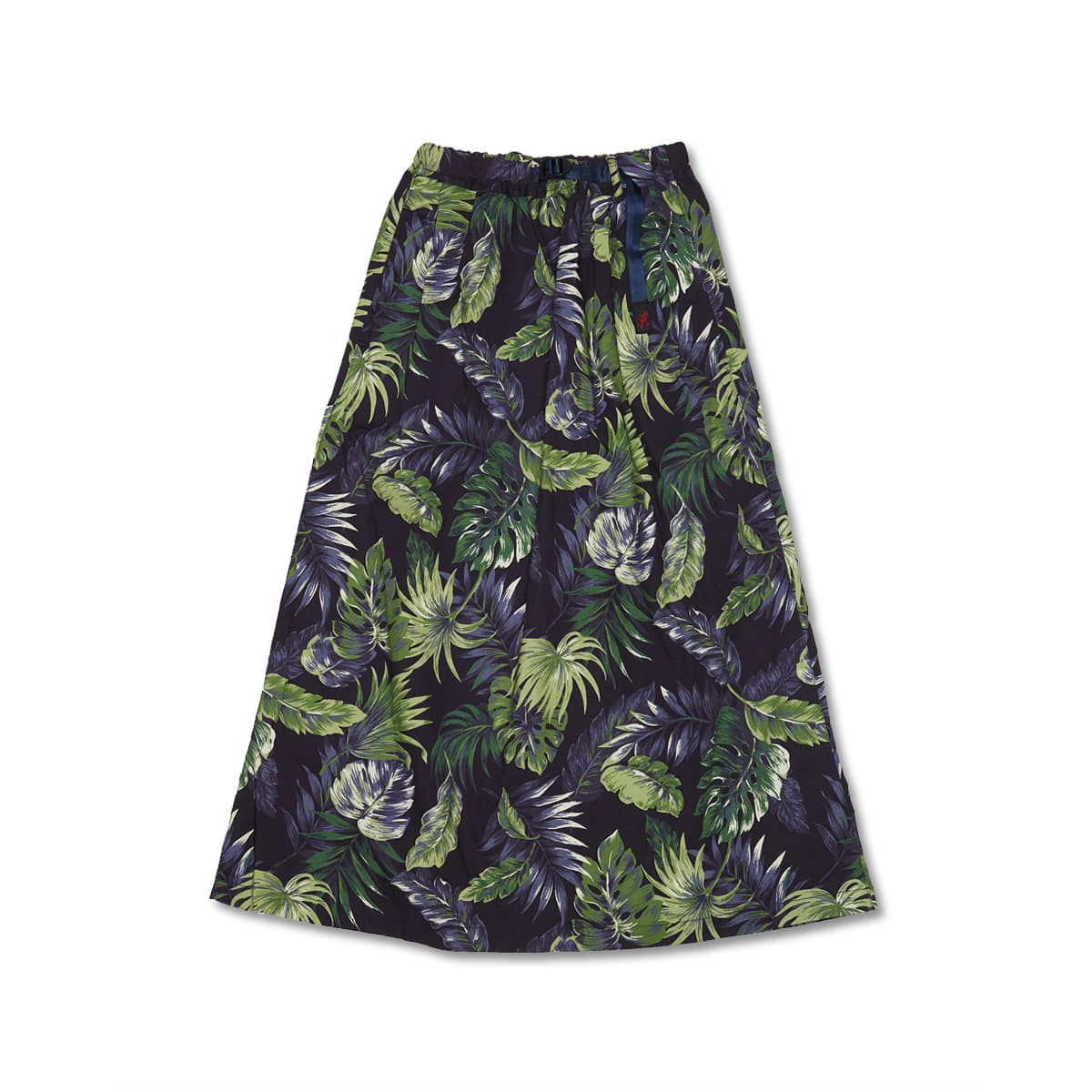 [GRAMICCI] WEATHER LONG FLARE SKIRT 'BOTANICAL NAVY'