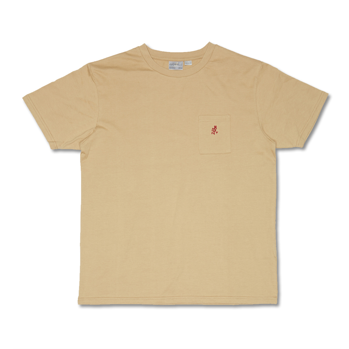[GRAMICCI] ONE POINT T-SHIRTS 'BEIGE'