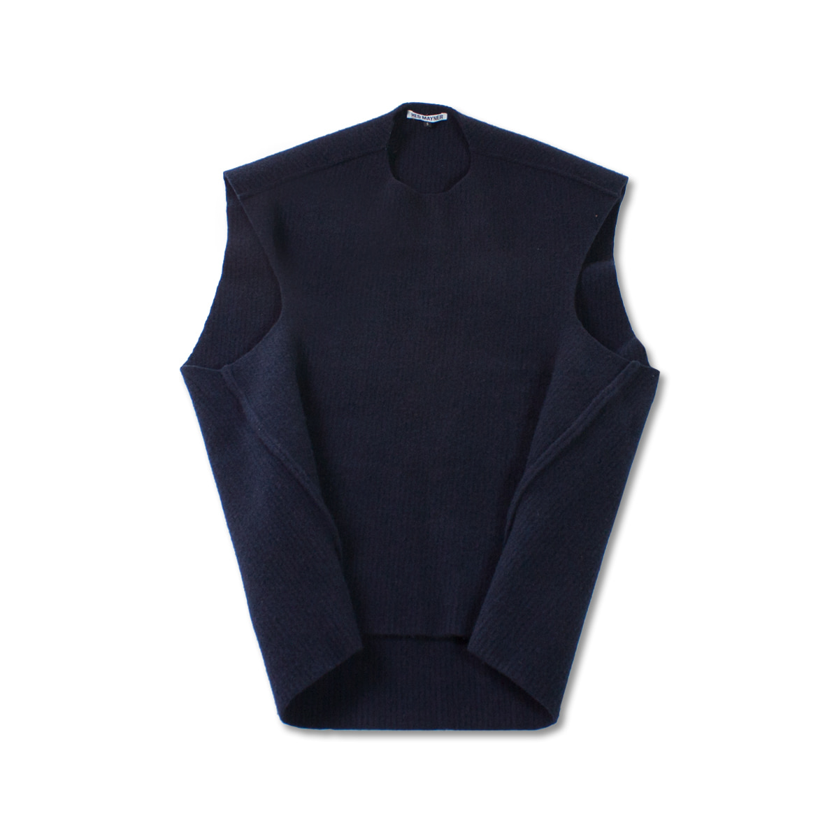 [HED MAYNER] SLEEVELESS KNIT 'NAVY'