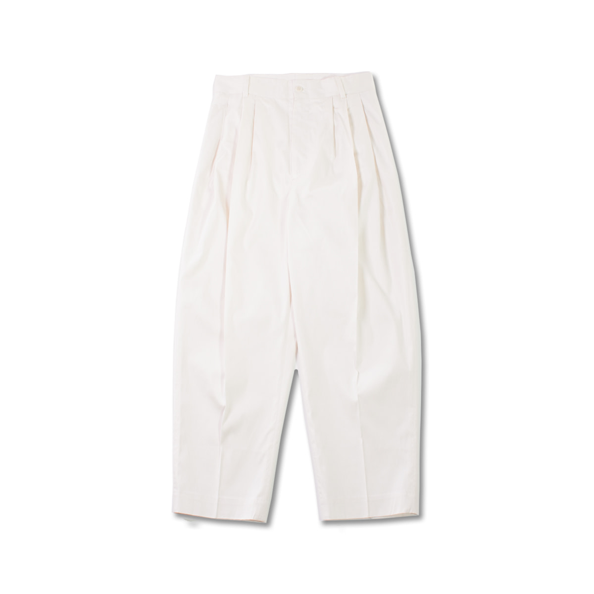 [HED MAYNER] 4 PLEAT PANTS 'WHITE ON WHITE'