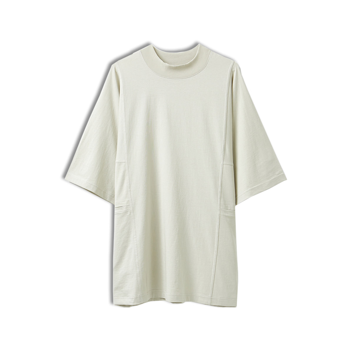 [YOUTH] MOCK NECK T-SHIRT 'LIGHT BEIGE'