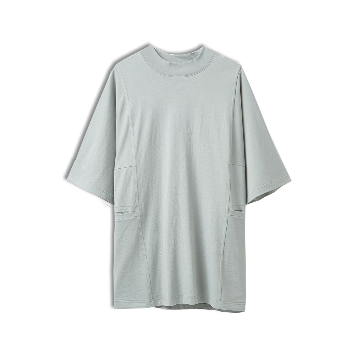 [YOUTH] MOCK NECK T-SHIRT 'GREY'