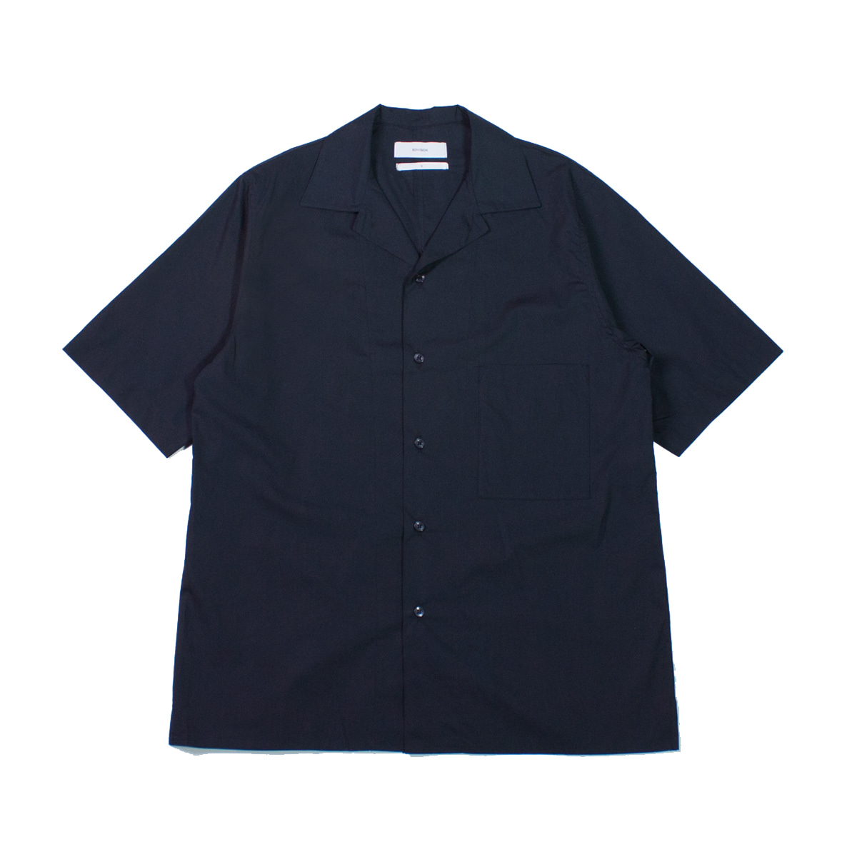 [8DIVISION] OPEN COLLAR SHIRT 'NAVY'
