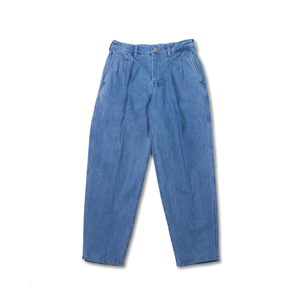 [8DIVISION] PLEATED JEANS 'USED BLUE'