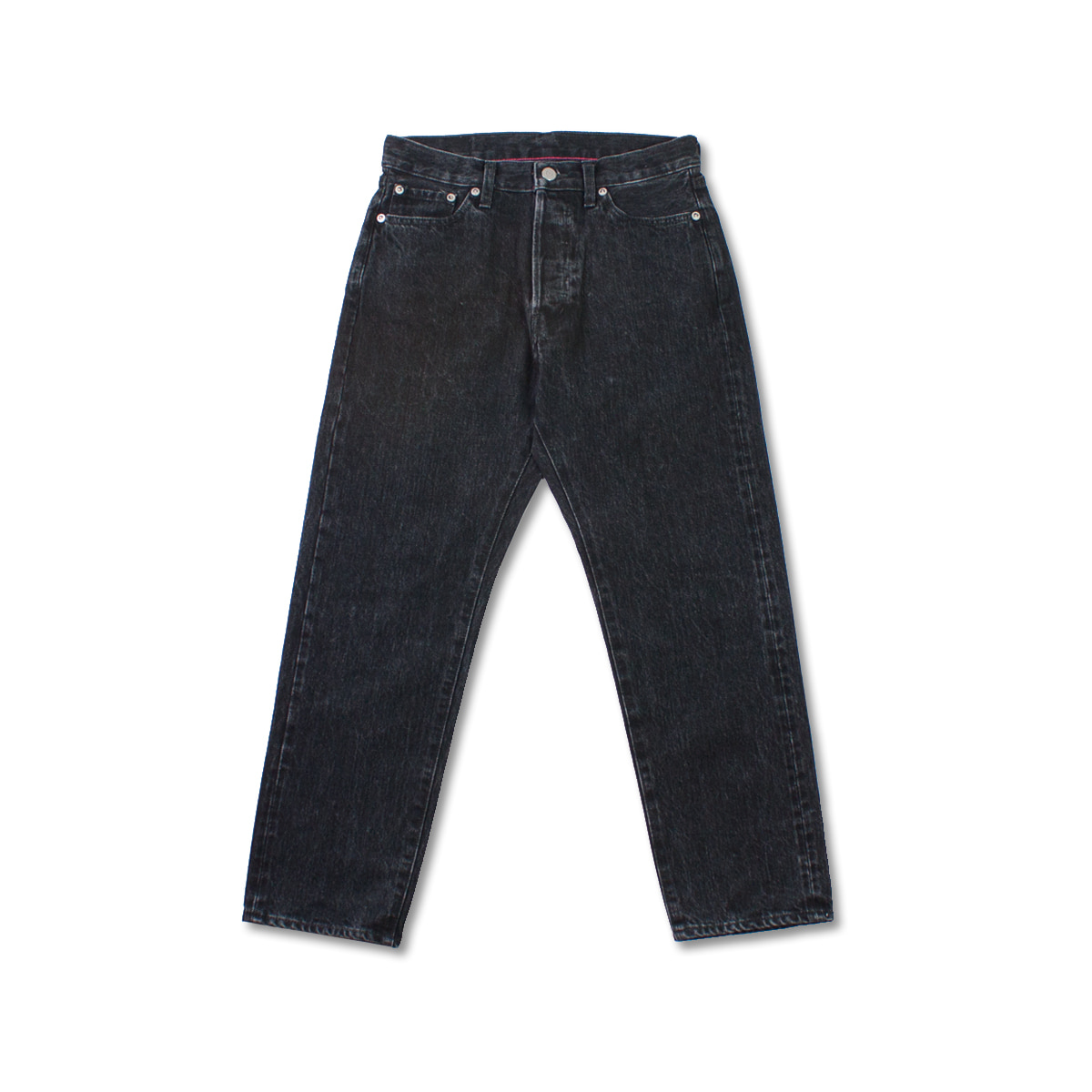 [ORDINARY FITS] 5PKT ANKLE DENIM 'BLACK USED'