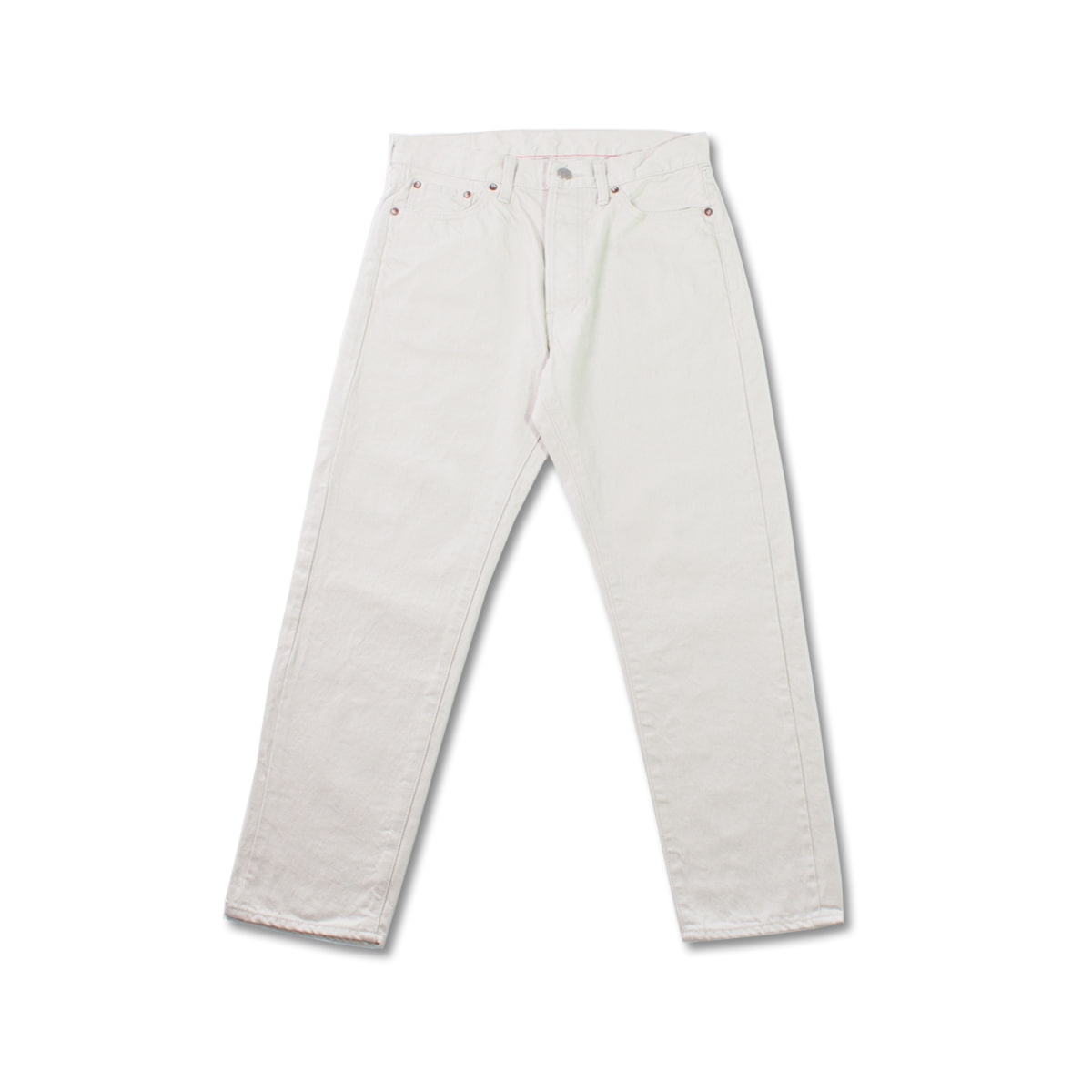 [ORDINARY FITS] 5PKT ANKLE DENIM 'WHITE'