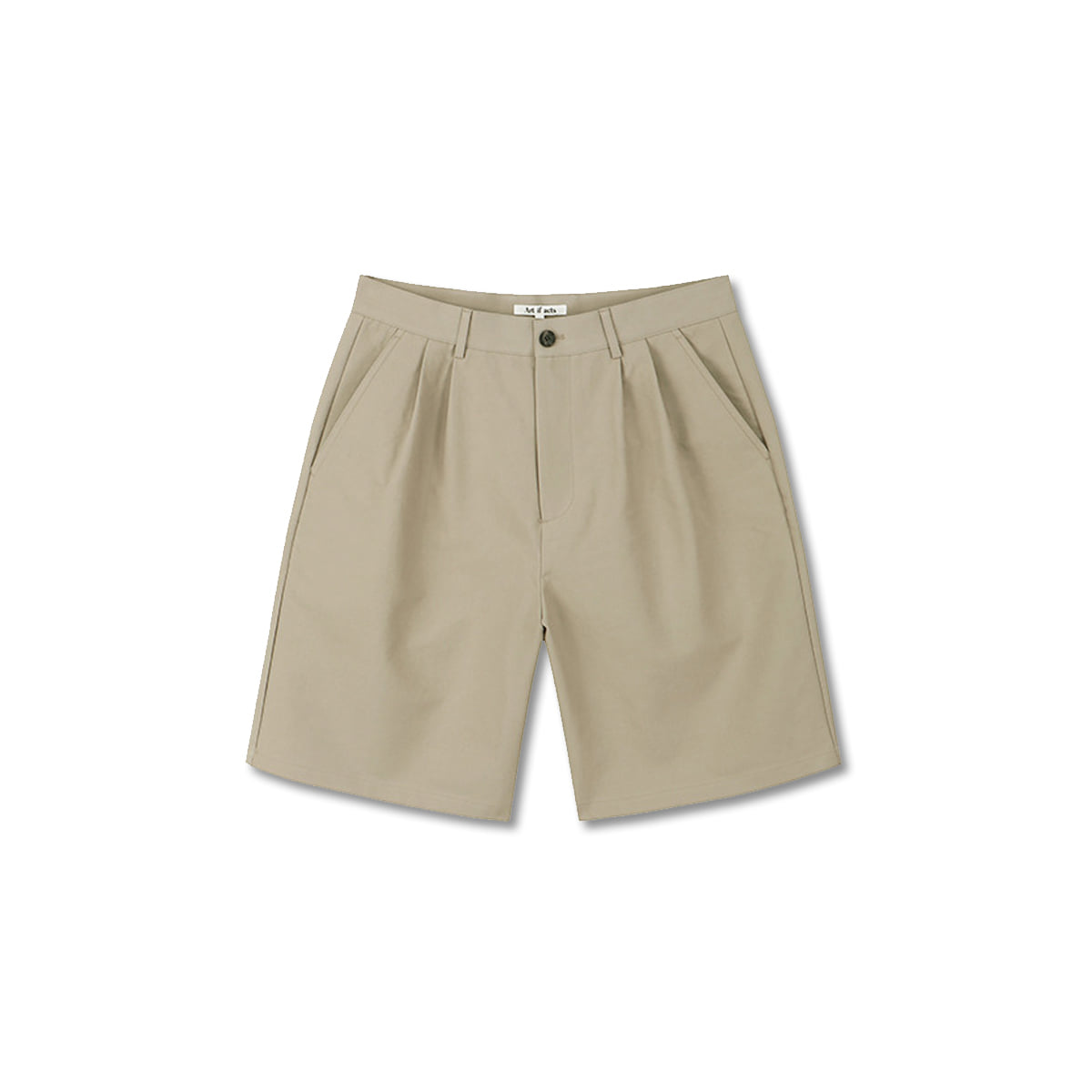 [ART IF ACTS] TWO TUCK BERMUDA SHORTS 'BEIGE'