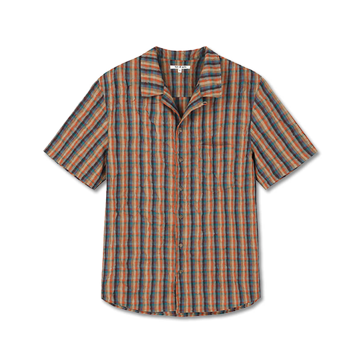 [ART IF ACTS] CLIP PLEATS HALF SHIRTS 'ORANGE'