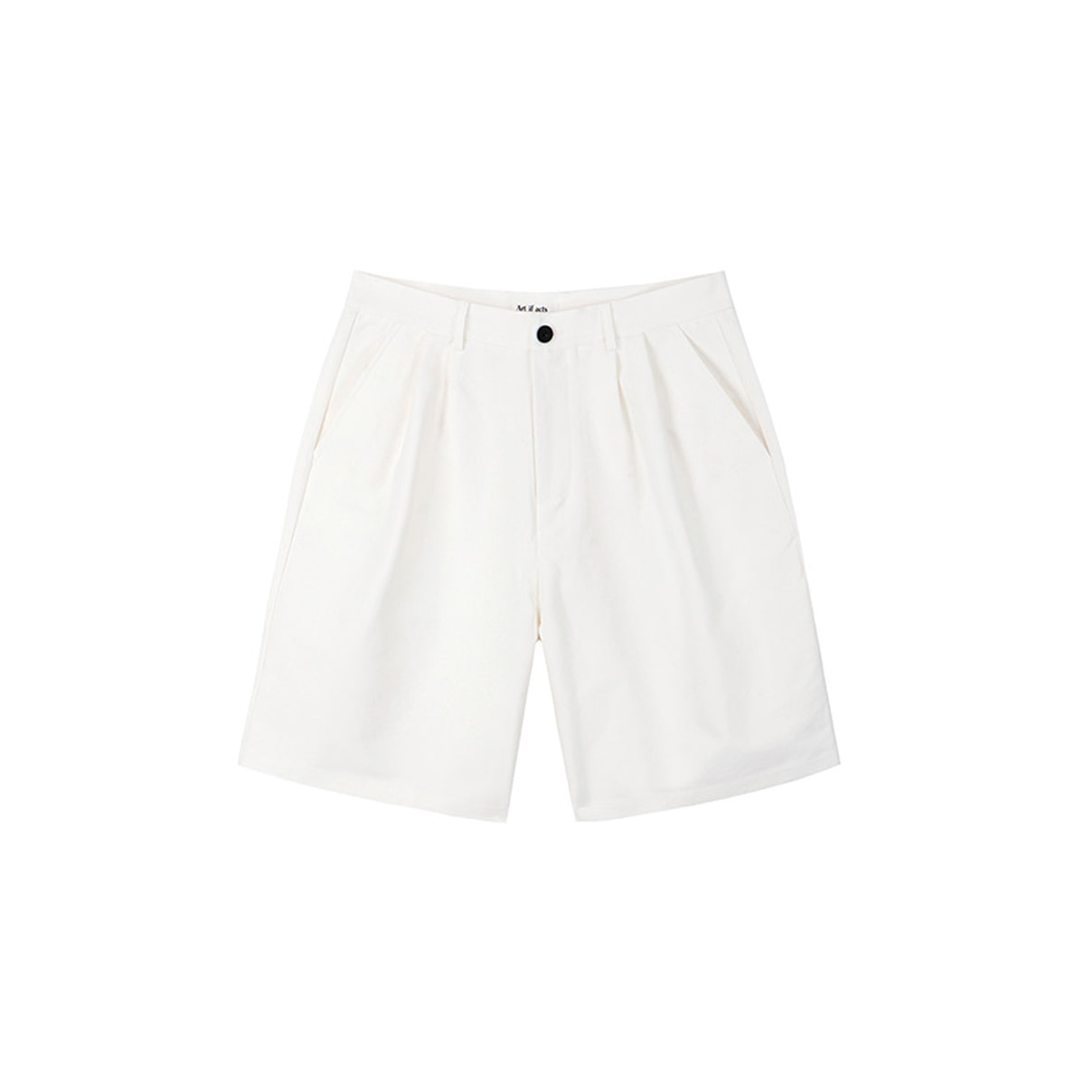 [ART IF ACTS] TWO TUCK BERMUDA SHORTS 'CREAM'