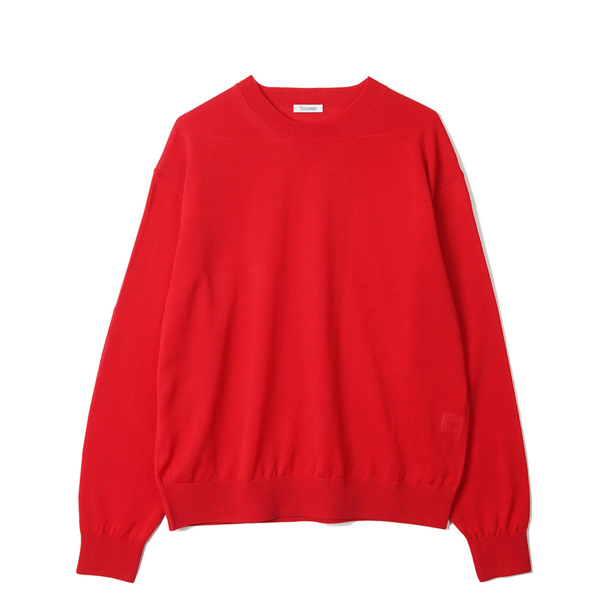 [TRICOTER] SUMMER YARN CREW NECK PULLOVER 'DEEP RED'