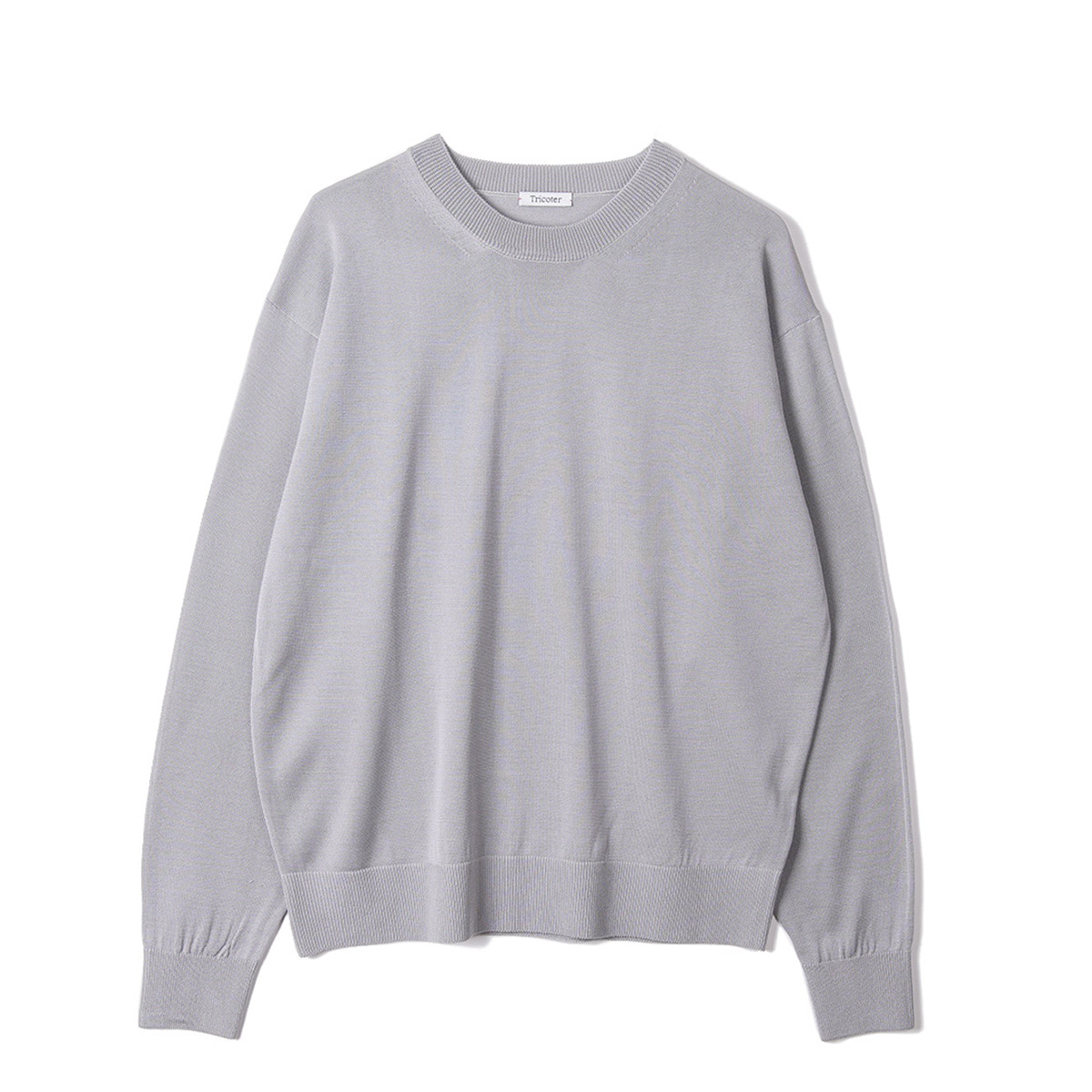 [TRICOTER] SUMMER YARN CREW NECK PULLOVER 'GREY'