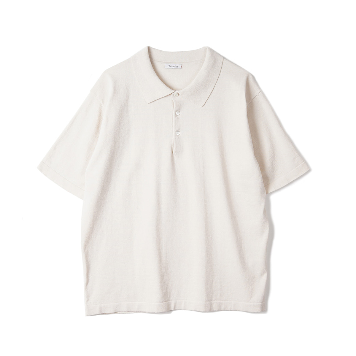 [TRICOTER] HIGH TWIST COTTON POLO 'IVORY'